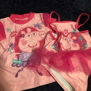 Peppa pig swim suit set